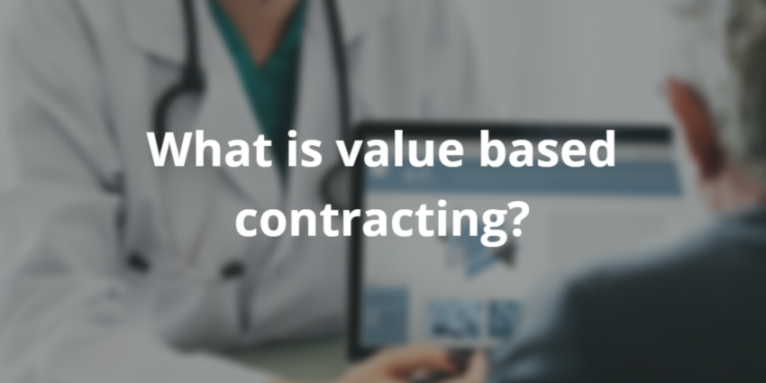 what is value based contracting